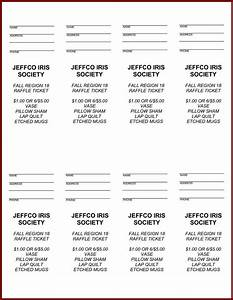 free printable raffle ticket template easytouse free With template for raffle tickets to print