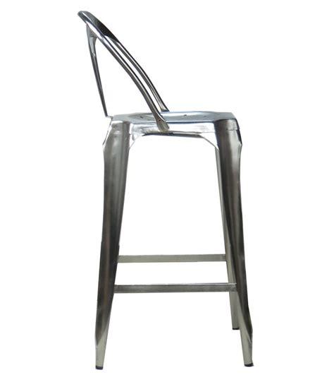 chaise de bar industriel tabouret de bar avec dossier en acier style industriel
