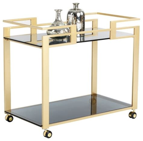 172 best bar carts images artefac glamorous bar cart with matte gold steel frame