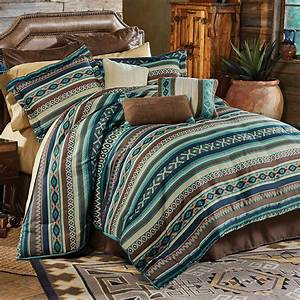 Western, Bedding, Sets, King, Size, Turquoise, River, Bed, Set