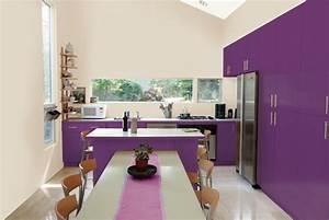 et si on repeignait la cuisine en prune la peinture qui With decoration de cuisine en peinture