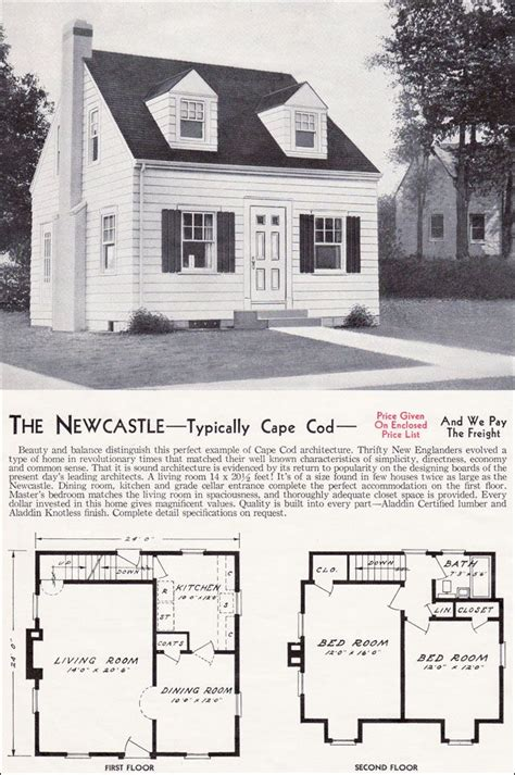 cape code house plans 1940 kit homes the newcastle small house plans