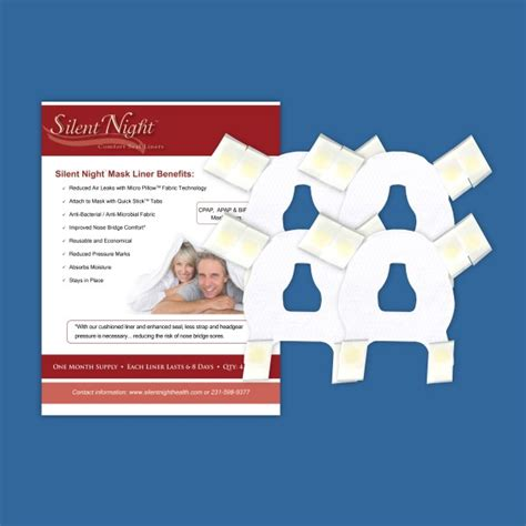 Silent Night NASAL MASK CPAP MASK LINER   (4) reusable liners
