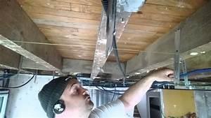 Pose De Placo Sur Rail : faire faux plafond placo sous plancher bois la pose des ~ Carolinahurricanesstore.com Idées de Décoration