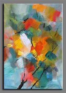 Miller Original Abstract Painting Spring Flower Branch ...