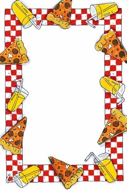 Pizza Party Border Clip Borders Clipart Frame