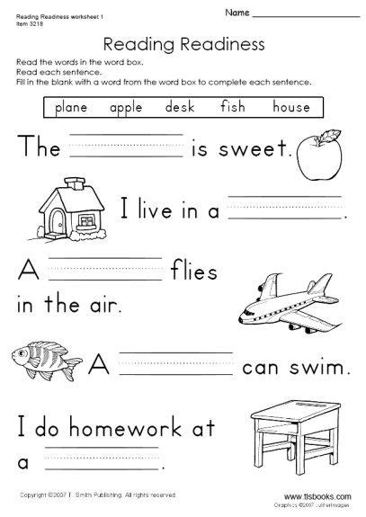 Snapshot Image Of Reading Readiness Worksheet 1  English  Pinterest  Worksheets, English And