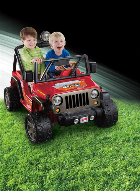 kids red jeep fisher price power wheels jeep wrangler kids battery