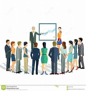 Business Presentation For Group Stock Vector ...