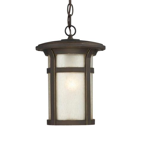 craftsman style hanging outdoor light hton bay round craftsman 1 light outdoor hanging dark