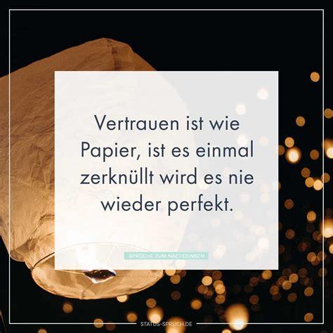 vertrauen ist wie papier ist es einmal zerknuellt wird es