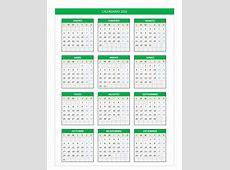 Calendario 2016 en Excel PlanillaExcelcom