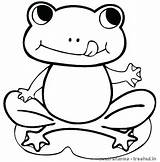 Coloring Frog Frogs Pages Printable Cute Tadpole Sheet Drawing Colouring Easy Sheets Cartoon Animal Draw Clipartmag Children Hungry Froglet Everfreecoloring sketch template