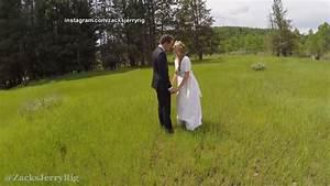 romantic drone wedding video has crash landing video abc With drone wedding photos