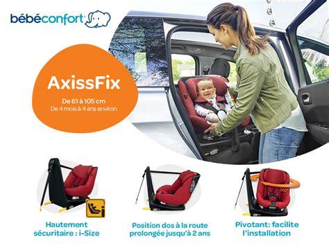 test siege auto pivotant testez le siège auto axissfix de bébé confort
