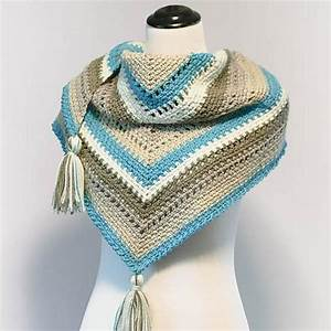 Cozy Striped Shawl Crochet Pattern By Petals To Picots