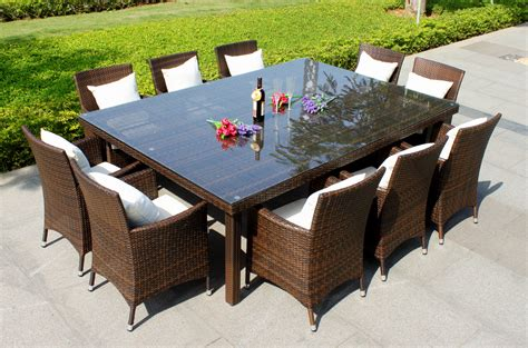 12 seater outdoor table oxford 10 seater wicker rattan dining set outdoor