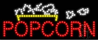 Led Sign Popcorn Signs Business Neon