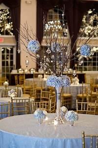 Elegant Shades Of Blue Wedding Centerpiece Ideas - crazyforus