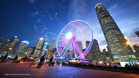 hong kong observation wheel   landmark   central waterfront cuhk business school