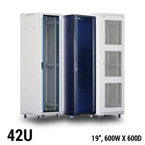 home server rack cabinet toten equipment rack cabinet 42u 19 quot w600 x d600mm