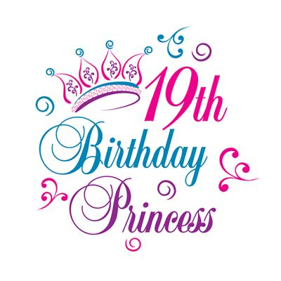 19th birthday card template 19th birthday princess business cards by admin cp3085590