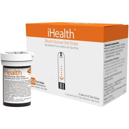ihealth ihealth blood glucose test strips walmartcom