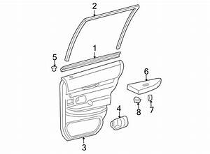 Mercury Grand Marquis Door Window Belt Weatherstrip  2003