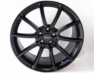 "Ford Mustang GT500 Mamba 20"" Wheels, Set of 4, Staggered, Satin Black 2005-2016"