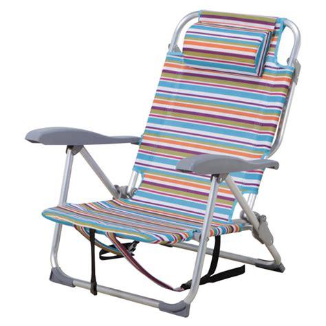 Chaise De Plage Ajustable, à Rayures Rona