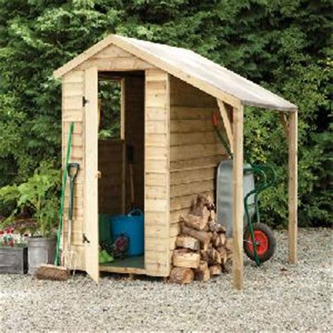 pressure treated overlap apex shed lean