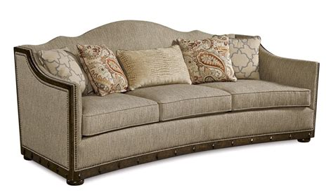 palazzo beige italian camel back sofa with modern curved