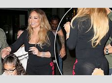 Mariah Carey suffers a wardrobe malfunction at dinner