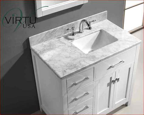 carrara marble bathroom designs 36 inch bathroom vanity with offset sink virtu usa 36