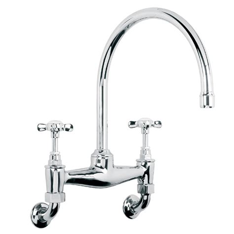 lb lefroy brooks classic bridge mixer tap wall mounted