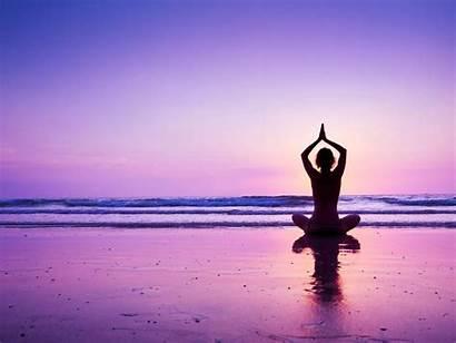 Sunset Yoga Beach Purple Wallpapers Poses Pose