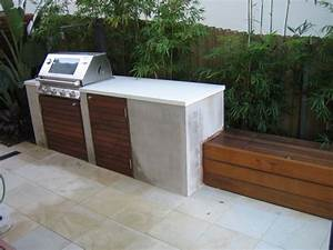 Built in bbq with bench seating Outdoor kitchen
