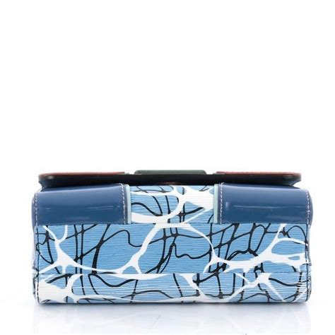 louis vuitton twist handbag limited edition aqua print epi