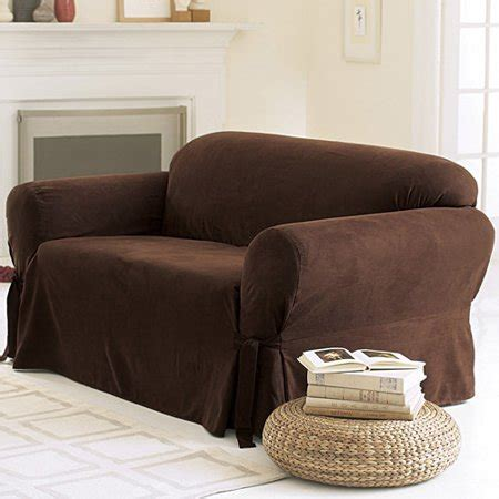 Loveseat Cover Walmart by Sure Fit Soft Suede Sofa Cover Walmart