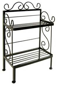 folding kitchen island cart wrought iron plant stand traditional baker 39 s racks