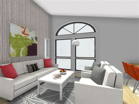 wallpaper accent wall living room design a room with roomsketcher roomsketcher blog