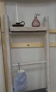 Badmöbel Shabby Chic : scheunenleiter 2 teil im shabby chic stil als landhaus badm bel lybste badmoebel ~ Orissabook.com Haus und Dekorationen