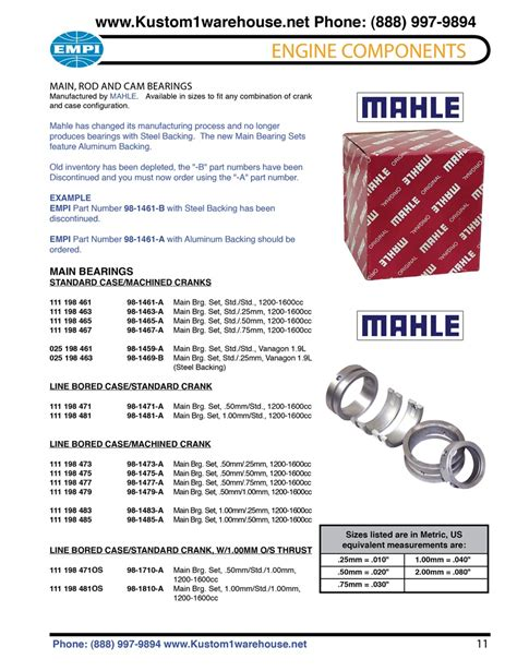 standard and machined line bore engine bearings standard and oversized thrust oem