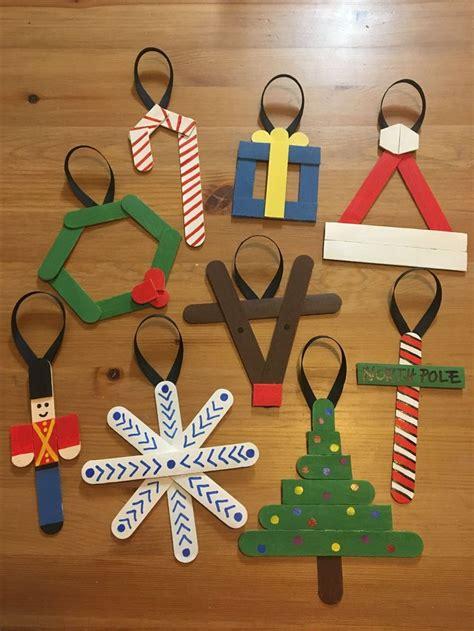 popsicle stick ornaments kids create xmas crafts diy
