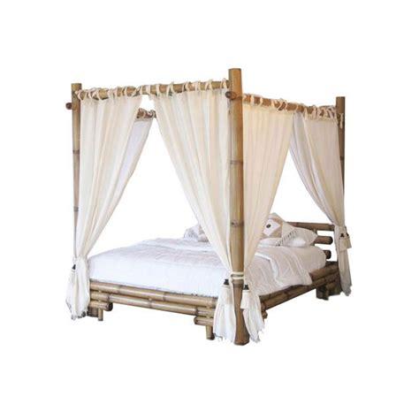 valets de chambre lit baldaquin bambou bambu 3220