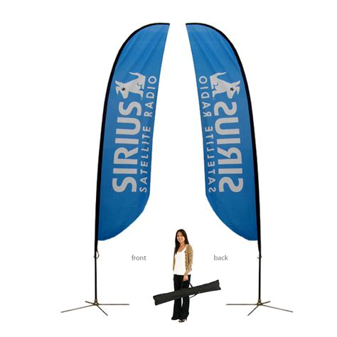feather flag double sided spike base graphic package sycolor