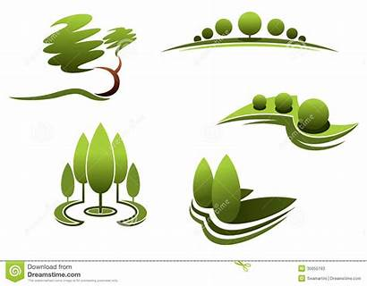 Landscaping Clipart Landscape Tree Elements Decal Trees