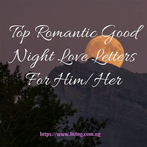 top romantic good night love letters  himher living