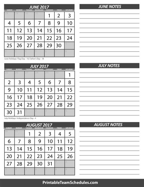 calendar template for june july august 2017 search results for printable month calendars july and