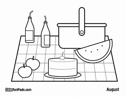 Picnic Coloring Pages Colouring Popular Adults